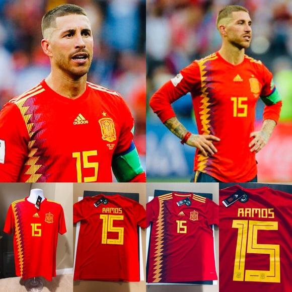 6d55a5733 España Sergio Ramos  15 Spain Soccer Jersey FIFA. NWT. adidas